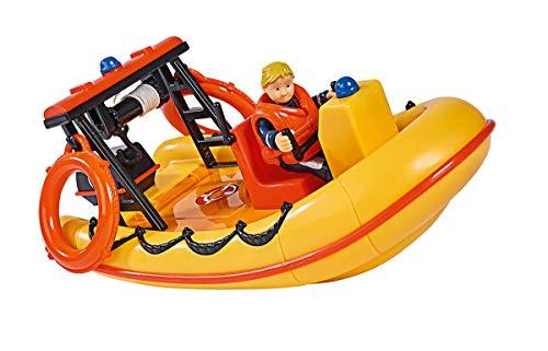 Simba  109251047 - Feuerwehrmann Sam Neptune Boot, mit Penny Figur im Tauchoutfit, mit Geheimfach und...