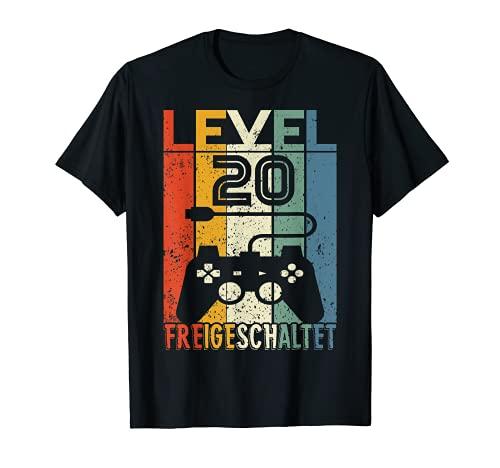 20 Geburtstag Geschenk - Level 20 unlocked Shirt Video Gamer