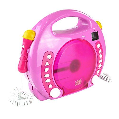 X4-TECH Bobby Joey - Kinder CD Player für USB-Stick, SD-Karte, MP3-CD...