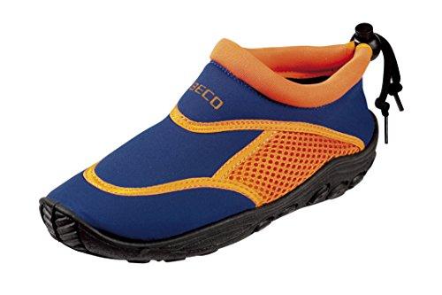 BECO Badeschuhe / Surfschuhe für Kinder blau/orange 30