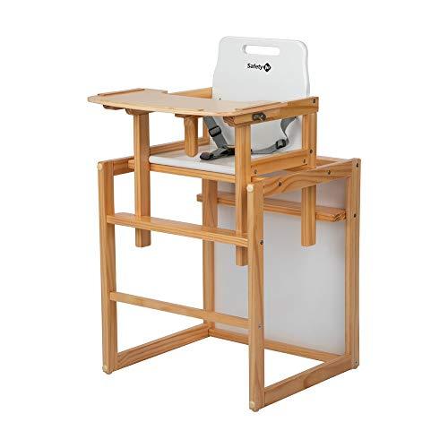 Safety 1st Cherry Hochstuhl, 2-in-1 Babystuhl aus Holz, der praktische...
