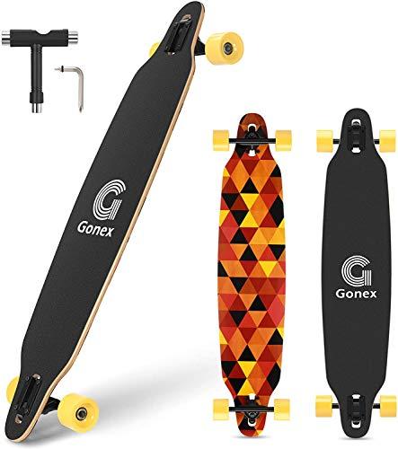 Gonex 42' Longboard Skateboard für Mädchen Erwachsene Anfänger und...