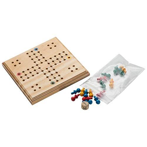 LUDO Spiel aus Holz Reisespiel Gesellschaftsspiel