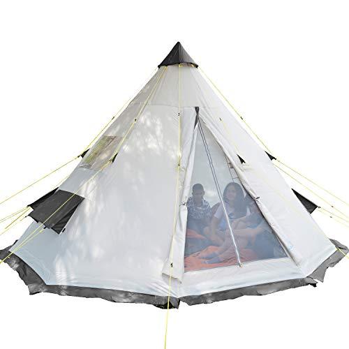 Skandika Tipi 6 Personen Zelt Outdoor | Campingzelt, wasserfest,...