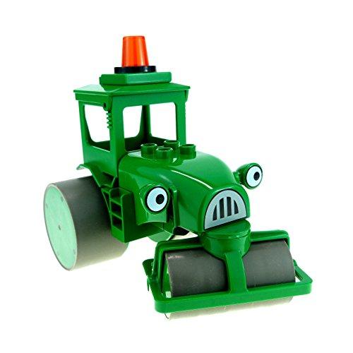 1 x Lego Duplo Bau Fahrzeug Walze Rollo grün Bob der Baumeister Figur...