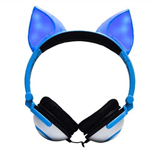 Gaming-Headset, faltbar, blinkend, leuchtend, mit LED-Licht, Tablet,...