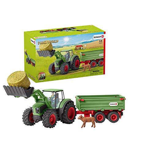 Schleich 42379 Farm World Spielset - Traktor mit Anhänger, Spielzeug...