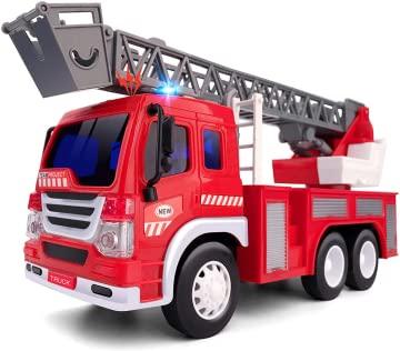 GizmoVine Feuerwehrauto , Feuerwehr ,Spielzeugautos Reibung...