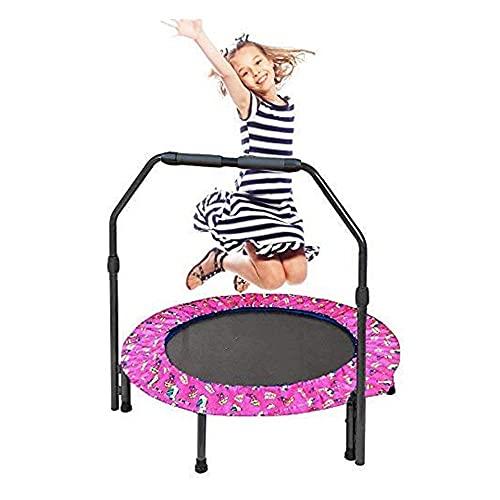 Trampolin Kinder, Faltbares Fitness Kindertrampolin Indoor Outdoor, 36...