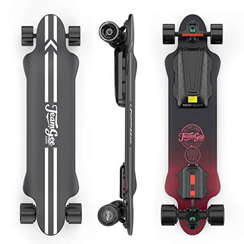 Teamgee H20 Elektro-Skateboard mit kabelloser Fernbedienung,...