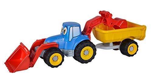 Simba 107134505 - Traktor mit Anhänger, Länge 54cm, Sandkasten,...
