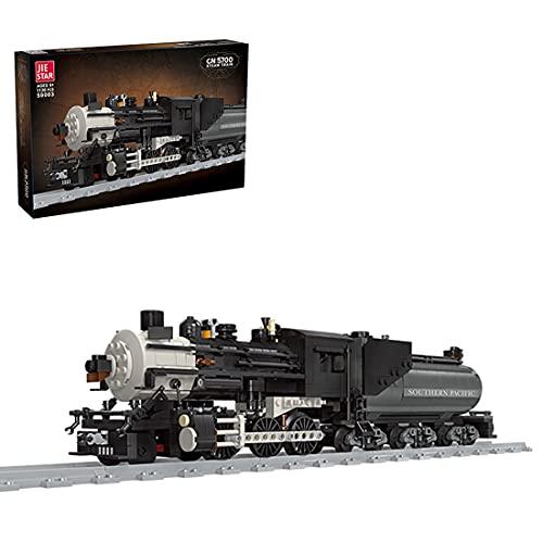 Sugeren Dampflok Baukasten Set, Retro Dampflokomotive mit Gleis,...