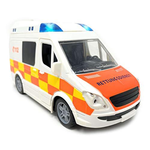 Spielzeug Krankenwagen mit Licht und Sound - Rettungswagen mit Sirene...
