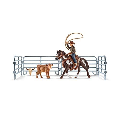 Schleich 41418 Farm World Spielset - Team roping mit Cowboy, Spielzeug...
