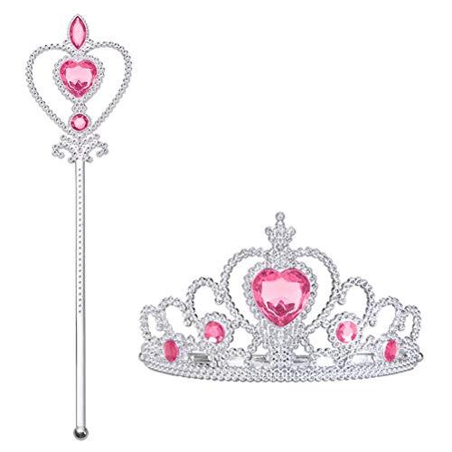Vicloon Princess Dress Up Zubehör: Krone, Zepter. Cosplay,...