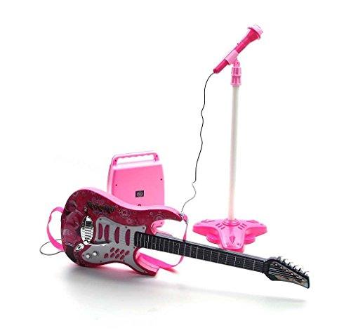Rock-Gitarre mit Stahlsaiten, Verstärker, verstellbare Stativ und...