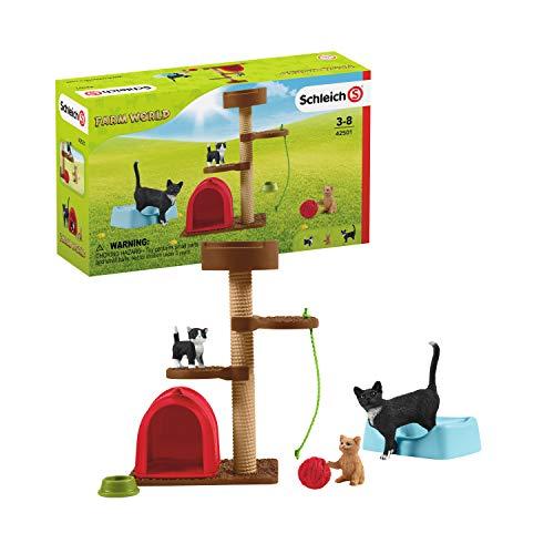 Schleich 42501 Farm World Spielset - Spielspaß für niedliche Katzen,...
