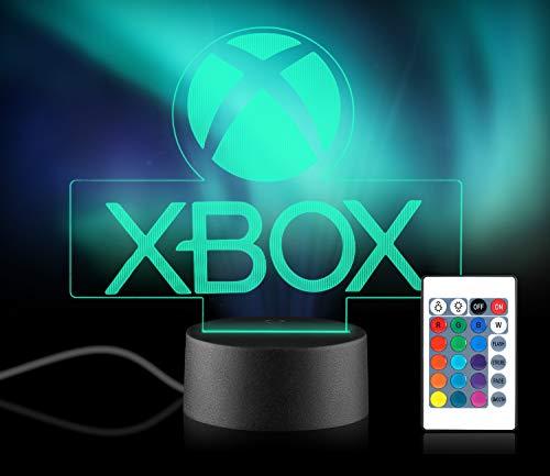 Xpassion Xbox Lampe mit Farbwechsel Funktion 16 Farben LED-Tisch-Schreibtisch-Lampen USB-Lade, die...