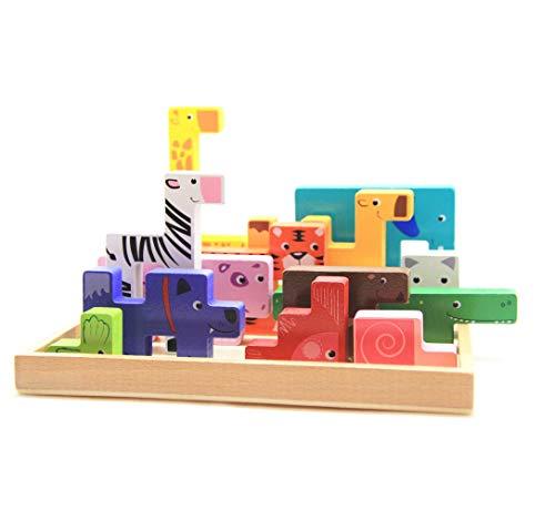 Puzzle aus Holz für Kinder, 3D-Spielzeug, Puzzle, Puzzle,...