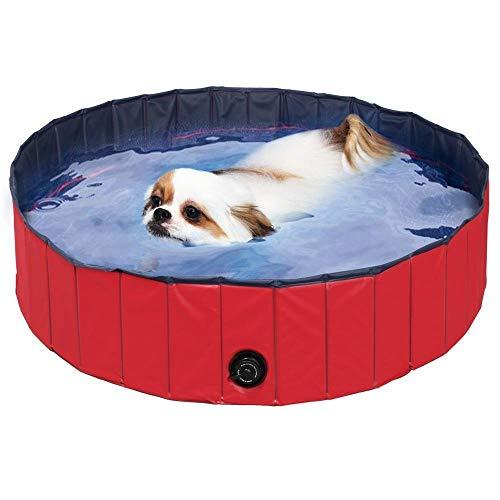 femor Hundepool Swimmingpool Für Hunde und Katzen Schwimmbecken Hund Planschbecken Hundebadewanne Faltbarer...