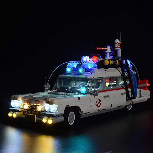 ZJLA Upgrade RC LED-Licht-Kit mit Sound für Lego Ghostbusters Ecto-1...