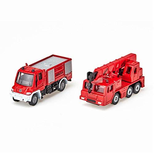 siku 1661, Feuerwehr-Set, Metall/Kunststoff, Rot, Spielkombination,...