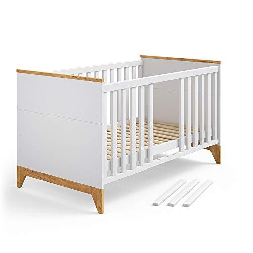 VITALISPA Babybett Malia Kinderbett Gitterbett Beistellbett Jugendbett 140x70cm 3 in 1 - Babybett, Kinderbett,...