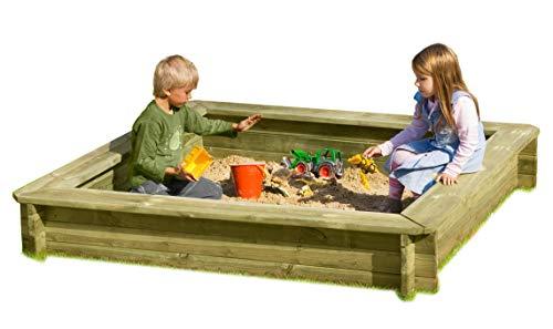 Sandkasten 180 x 180 x 30 cm aus Holz 30 mm imprägniert von...