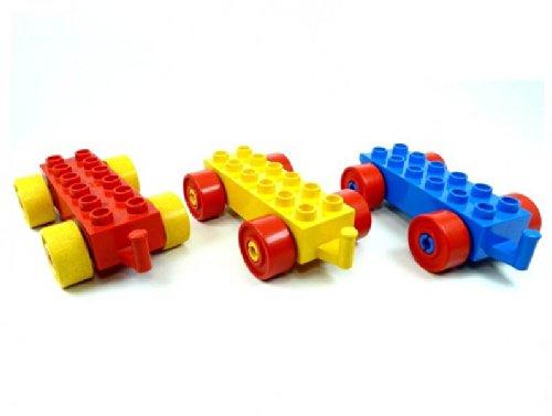 LEGO Duplo - 3 Auto Zug Eisenbahn Anhänger mit 2x6 Noppen (je 1x rot...