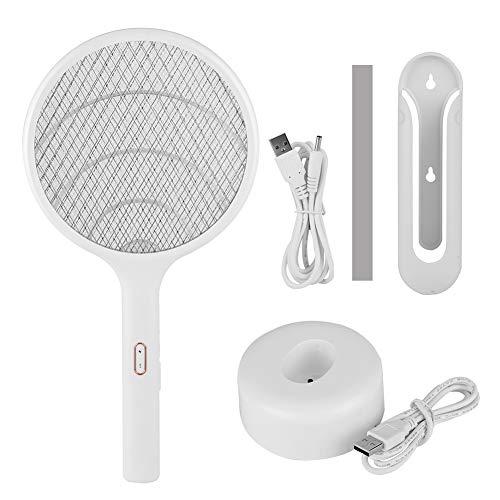 Longzhuo Haushalts schnurlose, LED USB wiederaufladbare elektrische Moskito Swatter Fly Insect Fledermaus...