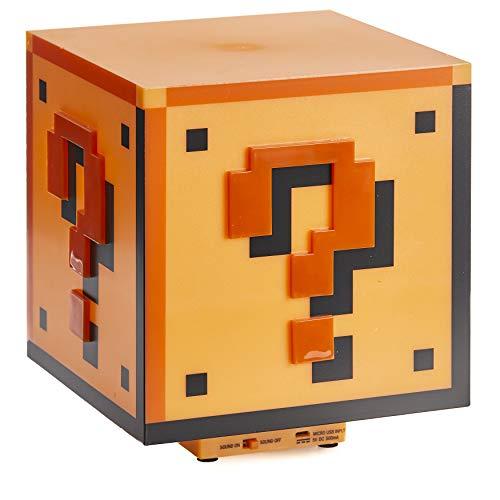 Paladone PP2929NN Super Mario Tischlampe Fragezeichen-Block,...