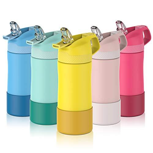 FJbottle 400ml Kinder Trinkflasche Edelstahl Vakuum Isolierte...