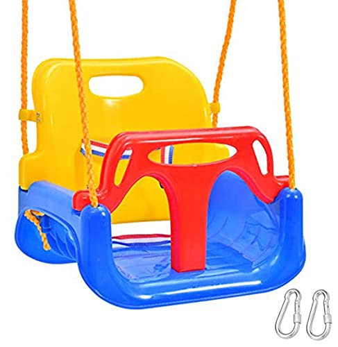 Emwel Babyschaukel Outdoor - kinderschaukel 3 in 1 Kinderschaukel...