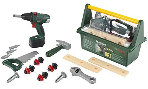 Theo Klein 8520 Bosch Werkzeug-Box I Mit Hammer, Säge,...