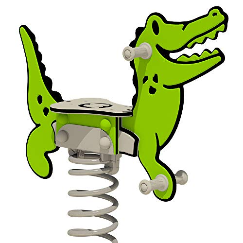WICKEY Federwippe PRO Krokodil Crockey grün für öffentliche...