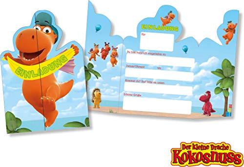 DH-Konzept: 8 Einladungskarten * DER KLEINE Drache Kokosnuss * für...