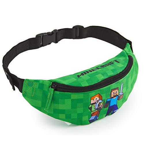 Minecraft Bauchtasche Kinder, Grüne Gürteltasche Kinder mit...