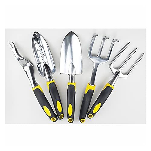 DINGFAN Gartenwerkzeug-Set, 5-in-1 Garten-Multifunktionswerkzeug,...