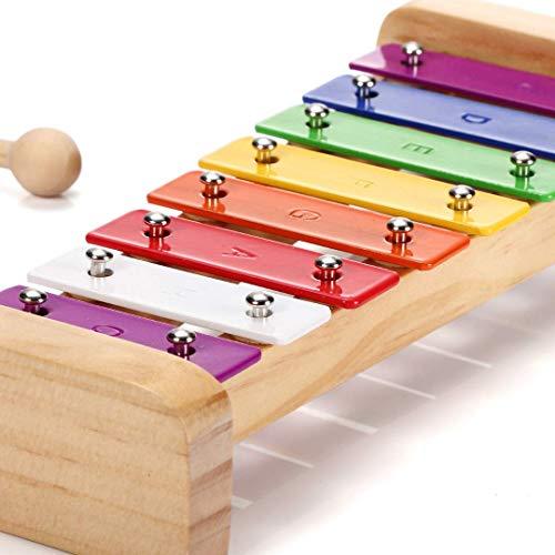SCHMETTERLINE Harmonisches Xylophon für Kinder aus Holz mit Notenheft...
