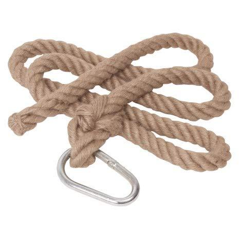 Woudi® Kletterseil 2m ohne Knoten, natürliches Material, mit...