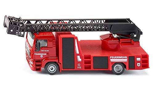 siku 2114, Feuerwehr Drehleiter, 1:50, Metall/Kunststoff, Rot,...
