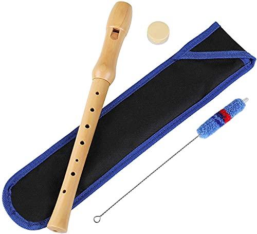 Holzblockflöte, Flöte aus Holz für Kinder und Anfänger mit...