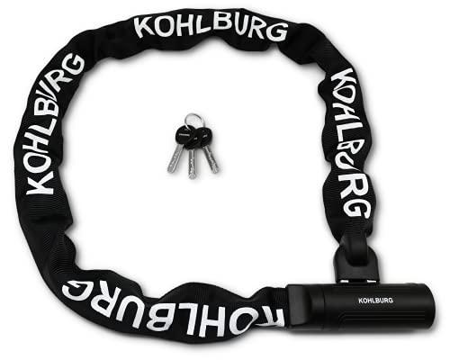 KOHLBURG Sicherheits- Kettenschloss - Schloss 120cm lang mit 8,5mm...