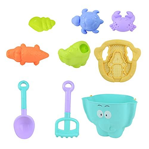 NXACETN 9 Stück Strandspielzeug, Schönes Cartoon Sandkasten...