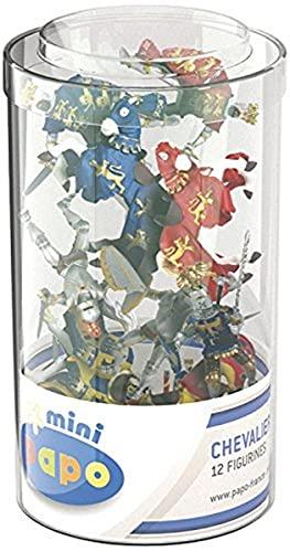 Papo 33016 Mini Ritter (Kunststoffbehälter, 12 Stück), Mehrfarben *