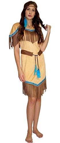 MAYLYNN 16617 - Kostüm Indianerin Indianerkostüm Squaw Damen...