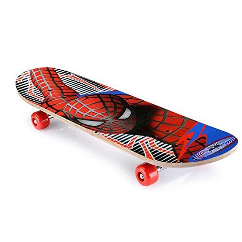 CYSHAKE Kinder Skateboard Spiderman Longboard Ahorn Doppel Rocker...