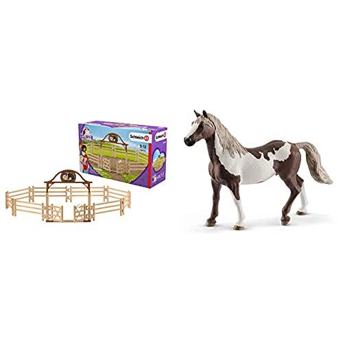Schleich 42434 - Pferdekoppel mit Eingangstor & 13885 - Paint Horse...