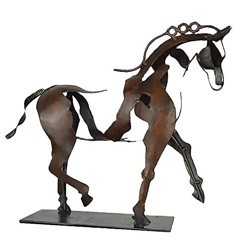 Statue Vintage Kupfer Pferd stehend Statue Hollow Out Pferd Skulptur...