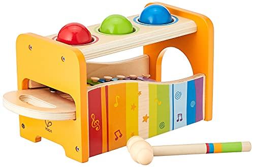 Hape Xylophon und Hammerspiel mit ausziehbarem Xylophon, langlebiges...